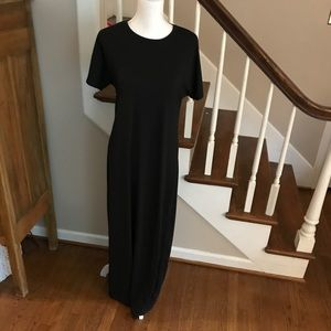 Lularoe Maria maxi dress. Solid black Size M
